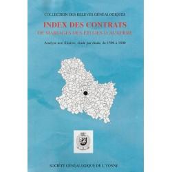 Index étude par étude des contrats de mariages des études d'Auxerre pour la période 1590-1800