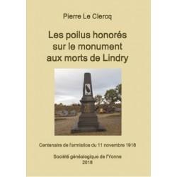 Les poilus honorés sur le monument aux morts de Lindry