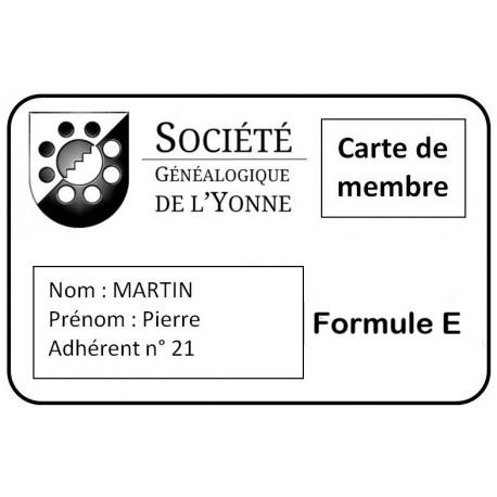 Adhésion SGY - Formule D