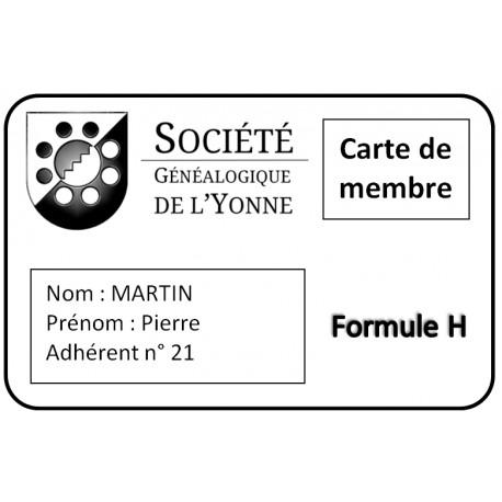 Adhésion SGY - Formule H