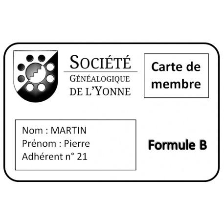 Adhésion SGY - Formule B