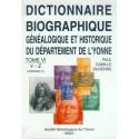 Dictionnaire biographique, généalogique et historique de l'Yonne - Tome 6 - Lettres V à Z, addenda (1)