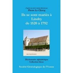 Ils se sont mariés à Lindry de 1632 à 1792
