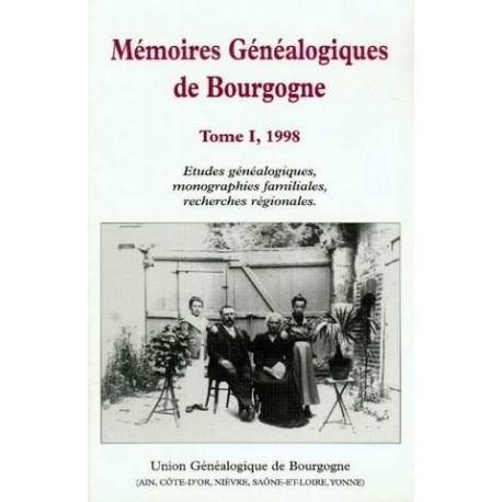 Mémoires généalogiques de Bourgogne - Tome 1